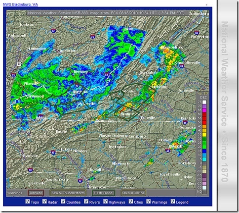 Blacksburg Radar